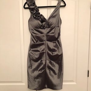 Silver/grey padded formal dress